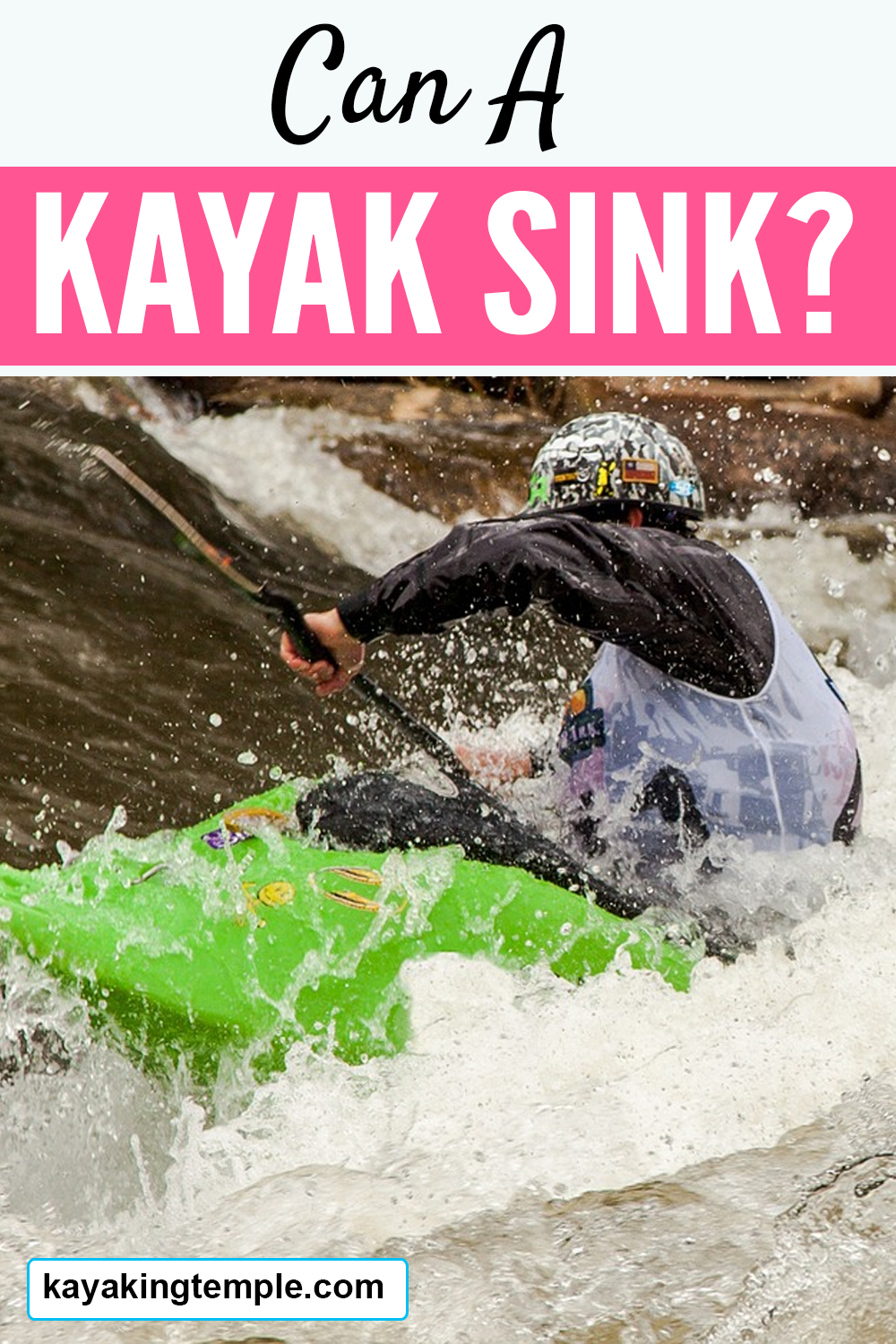 can a kayak sink