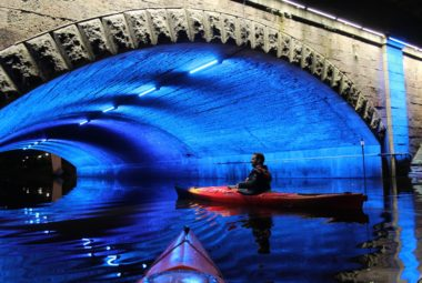 Night Kayaking On A River