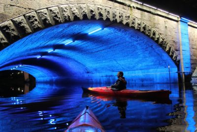Night Kayaking On A River
